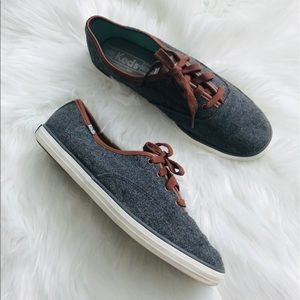 Keds Champion Wool Sneaker Charcoal WF53445